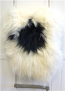 fra sau, hvit/sort (110-120cm)
