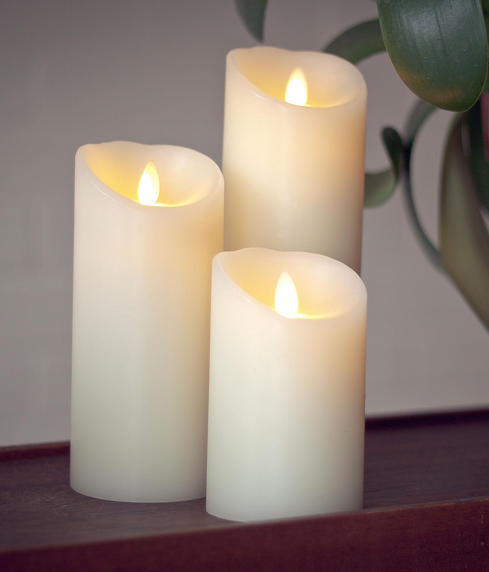 Luminara LED-lys Ivory 8x23cm 1stk (200-LC082205IR)