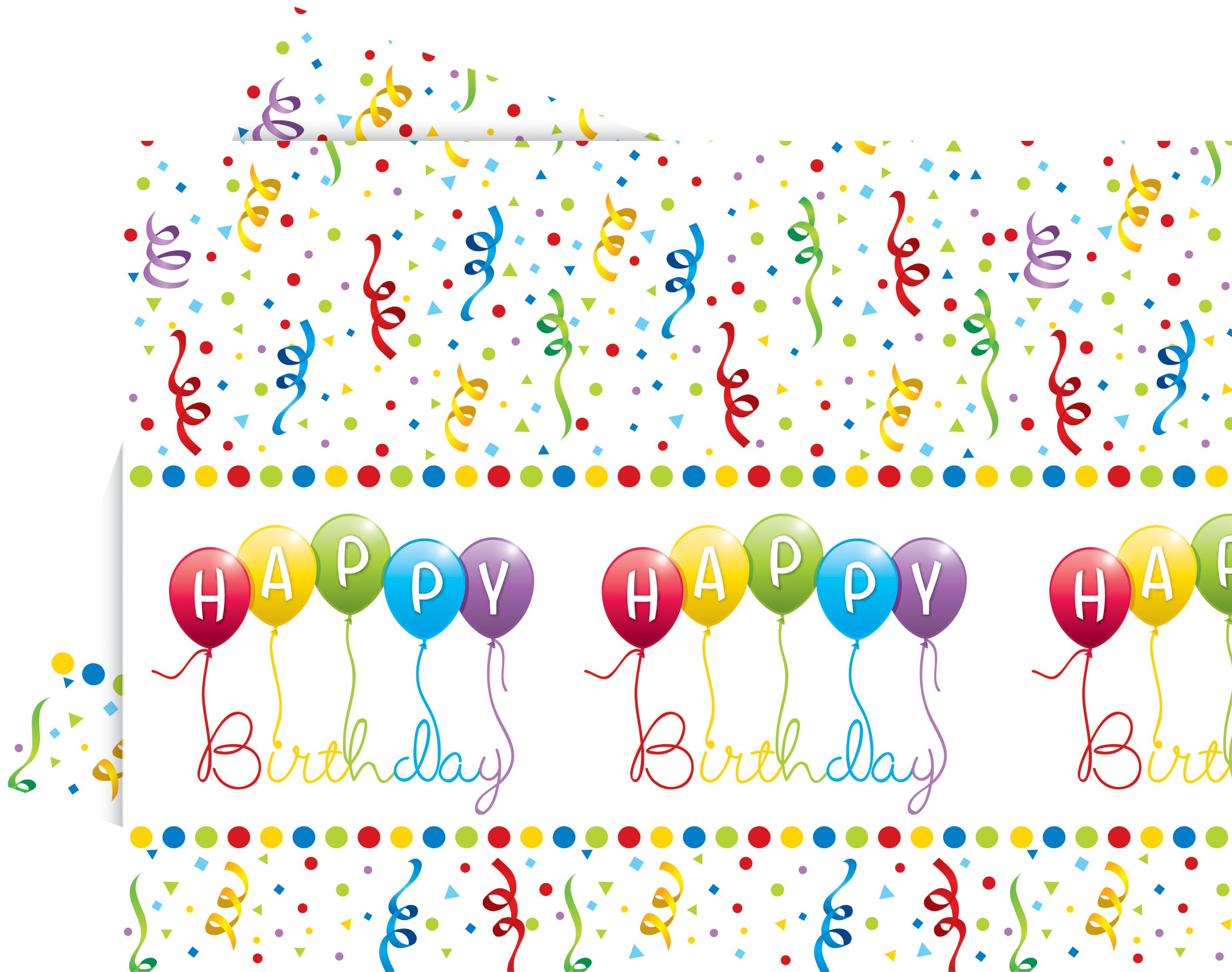 Happy Birthday Plastduk str. 120x180 cm Praktisk engangsduk (1 stk) (126-81845)