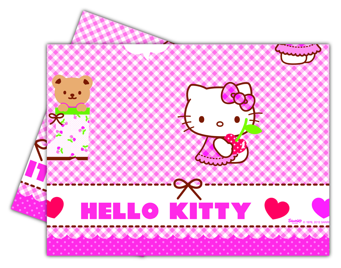 Hello Kitty Plastduk str. 120x180 cm Praktisk engangsduk i Hello Kitty-design. (1 stk) (126-81795)