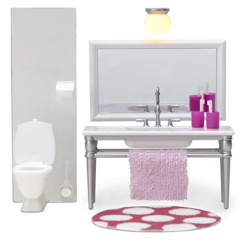 Lundby Småland Baderomsmøbler m/toalett og vask (233-60-2087-00)