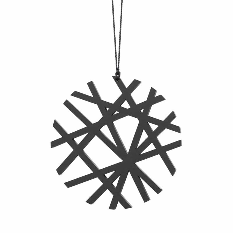 Felius Design Julekule Streker 2stk, Sort (423-KSS2)